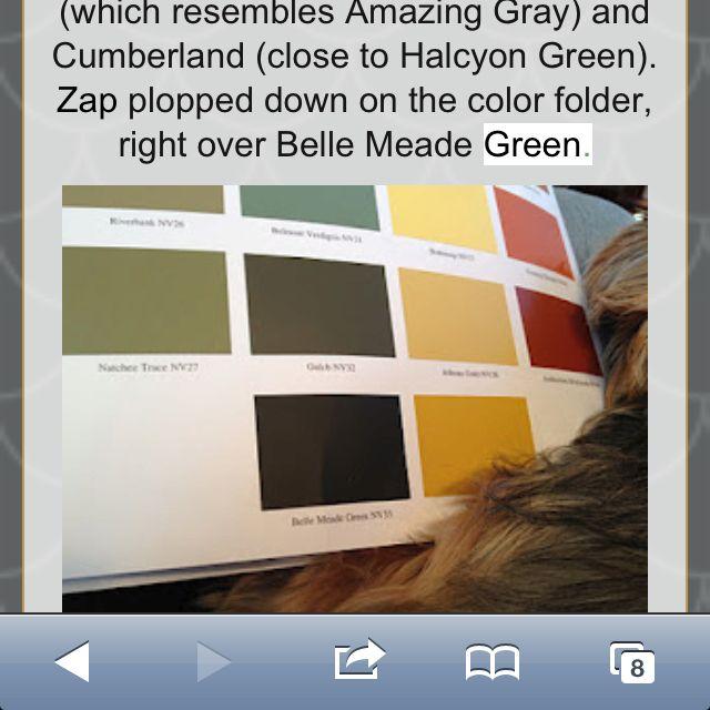 Belle Meade Green Nashville Green Painted Brick Painted Brick