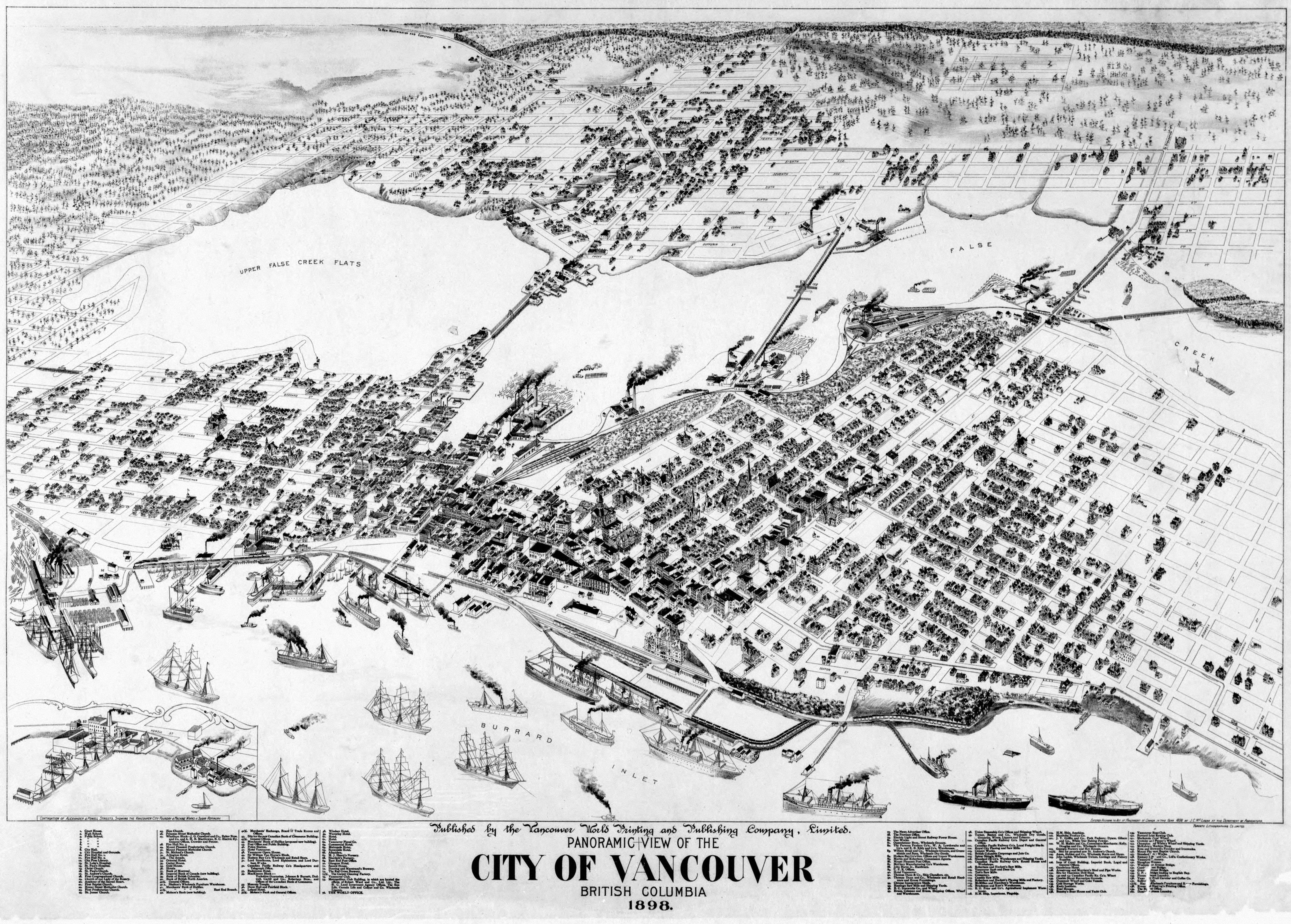 vancouver british columbia canada 1898 maps