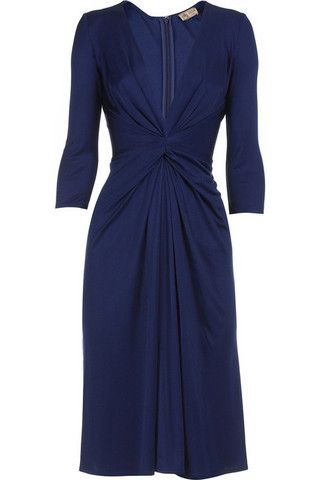 This is the Issa dress that Kate Middleton wore for her engagement announcement. It's a very flattering colour and style.