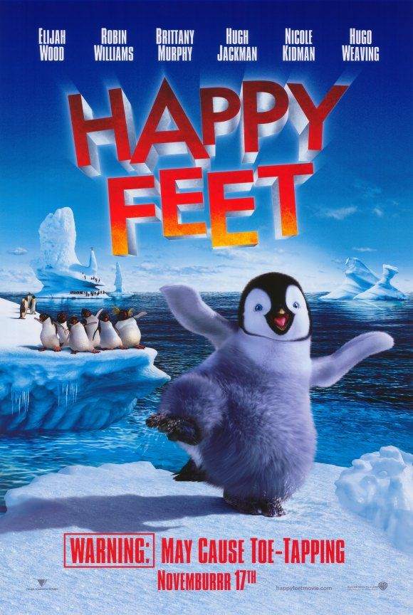 Happy Feet 2006 Into The World Of The Emperor Penguins Who Find Their Soul Mates Through Song A Penguin Is Born Wh Happy Feet Kids Movies Animated Movies