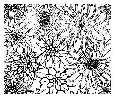 Vintage Flowers Diverses Vintage Coloring Pages For Adults