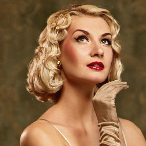 1950 S Style Wedding Hair: Short Vintage Bob Hairstyles In Marilyn Monroe Look