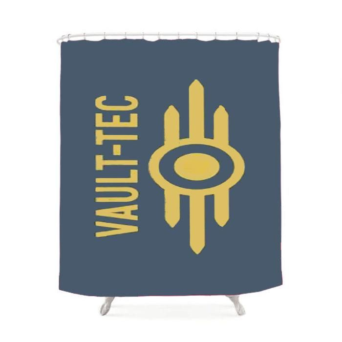 Fallout Vault Tec Shower Curtain