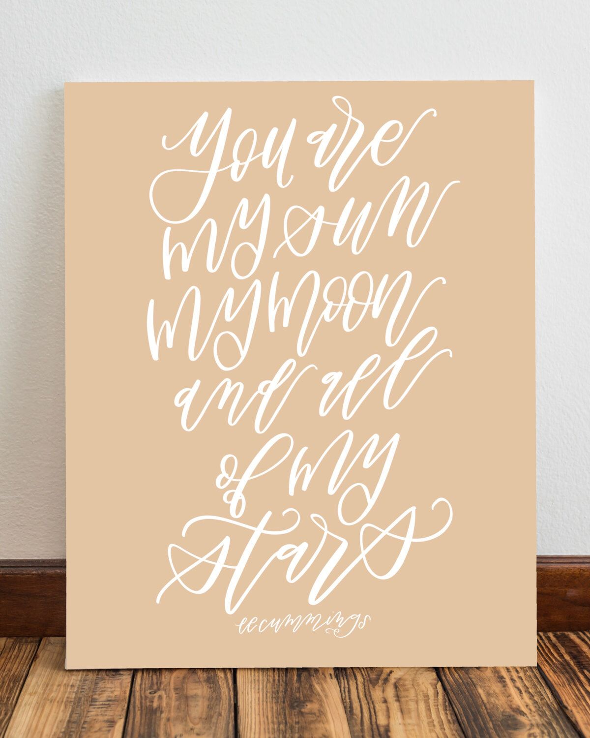 love quotes for invitations%0A Inspirational Author Love Quote Wall Art Printable  EE Cummings Quote   Instant Download  Wall