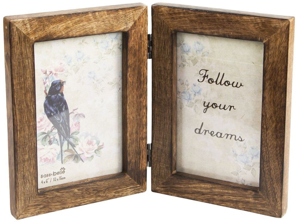 Pin By Laura Mcfettridge On House Double Photo Frame Frame Dark Wood