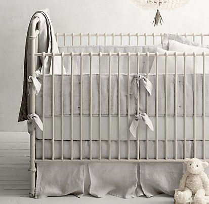 Washed Organic Linen Nursery Bedding Collection Restoration Hardware Baby Child