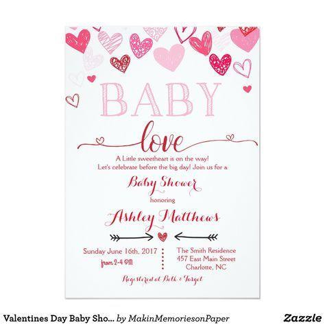 Valentines Day Baby Shower Invitation Valentines Day Baby Shower