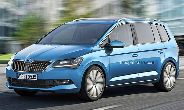 Skoda Van Concept Illustration Volkswagen Touran Vw Touran Und