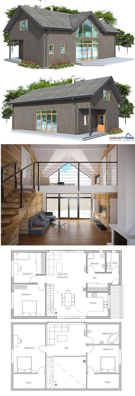 House Plan Ch21 Modern House Plans Building A Container Home House Layouts