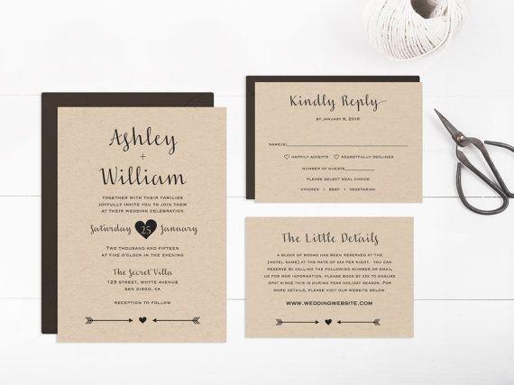 Wedding Invitation template printable Editable Text and Artwork