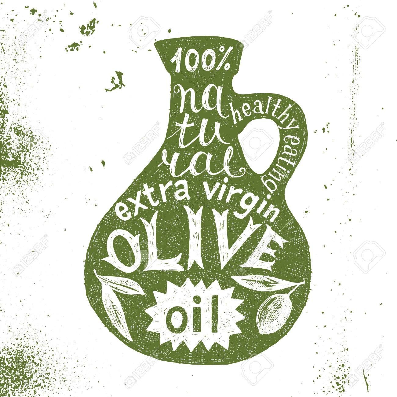 Dibujado A Mano Silueta De La Botella De Aceite De Oliva Con Diseno De Texto Botellas De Aceite De Oliva Botella De Aceite Aceite De Oliva