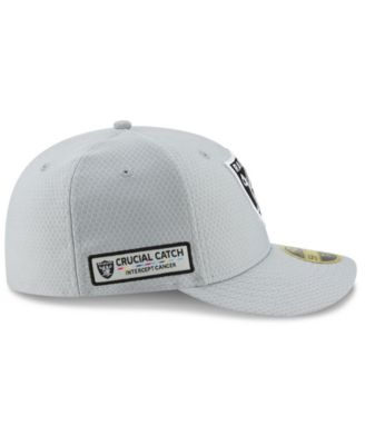 b88bcd89 New Era Oakland Raiders Crucial Catch Low Profile 59FIFTY Fitted Cap - Gray  7 3/8