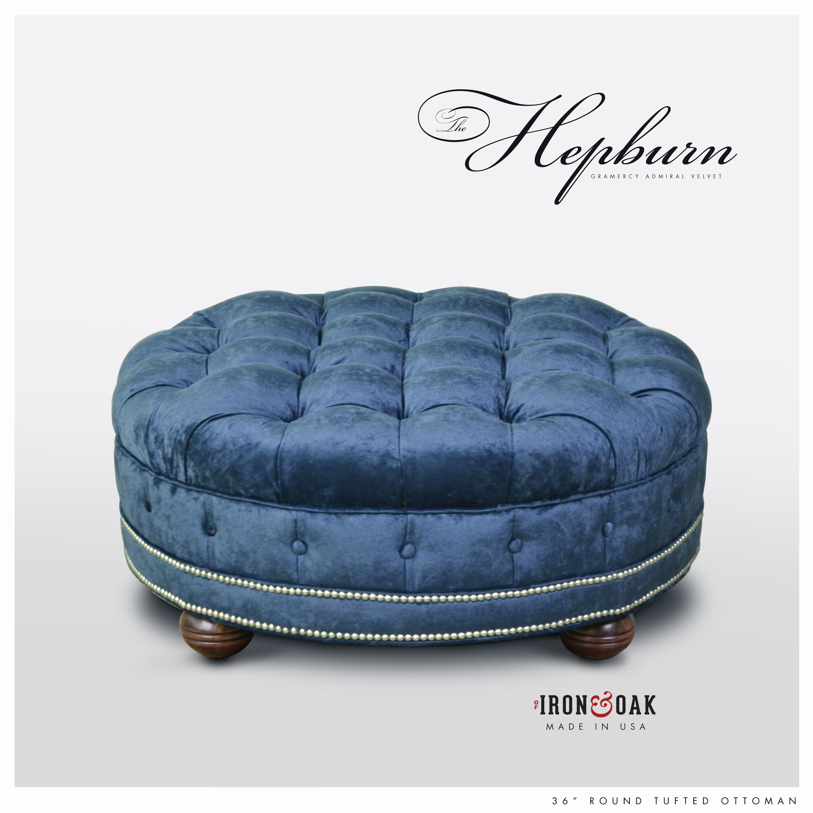 The Hepburn Custom Tufted Seat Chesterfield Sofas More Velvet Furniture Round Tufted Ottoman Ottoman