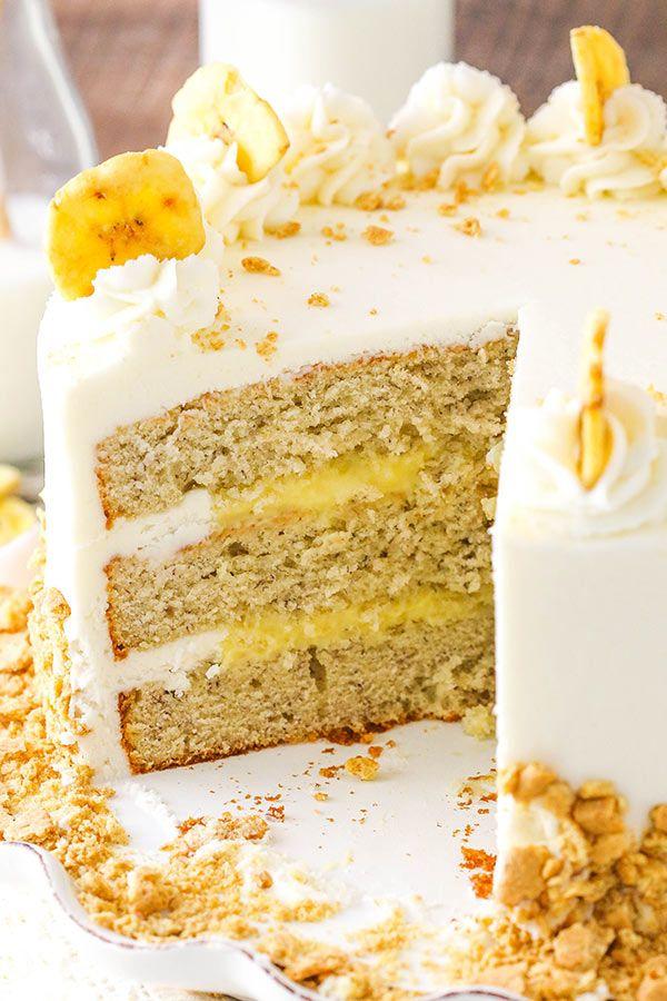 Banana Cream Layer Cake Receita Com Imagens Bolo