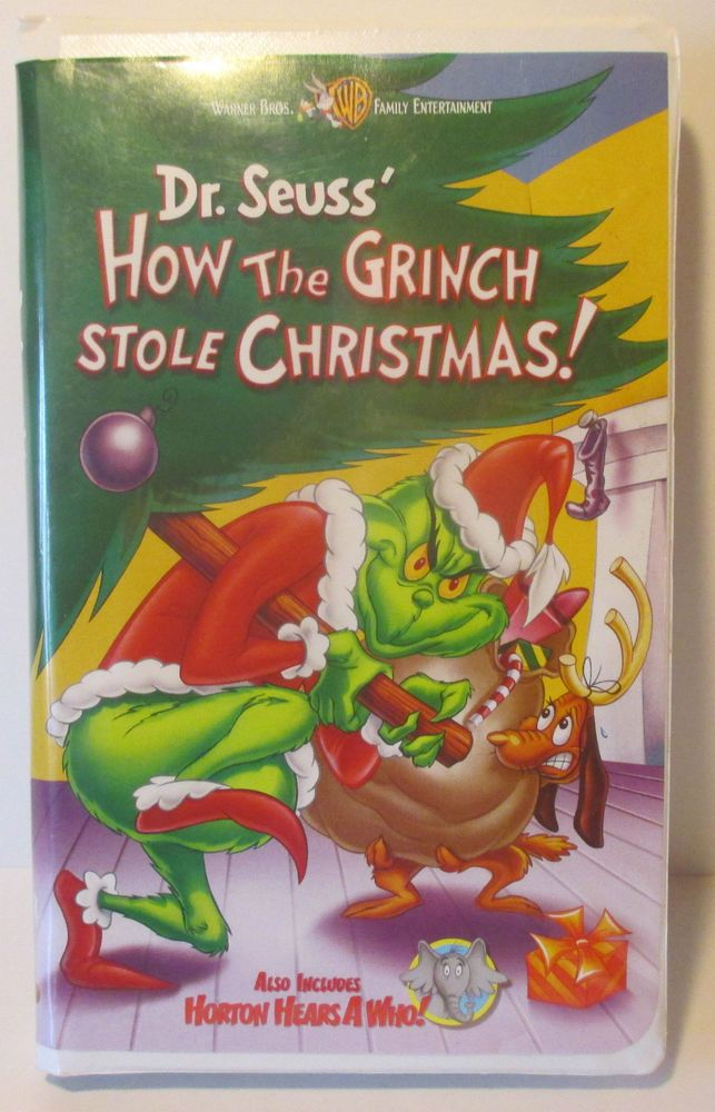 how the grinch stole christmas includes horton hears a who vhs - How The Grinch Stole Christmas Vhs