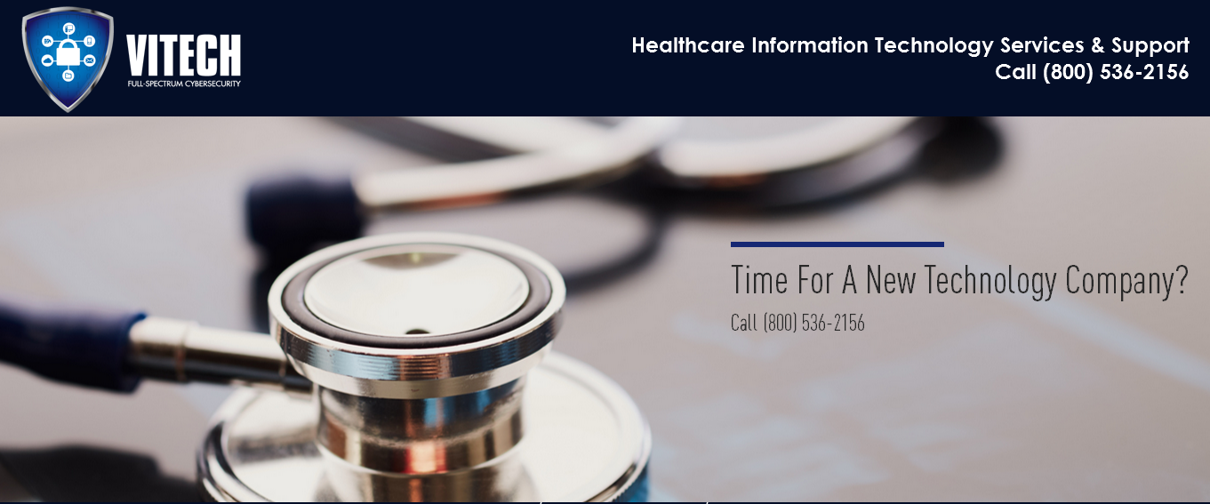 VITECH offers IT services for healthcare firms. Contact our consultants to get best healthcare IT solutions for your healthcare company. Call (800) 536-2156.