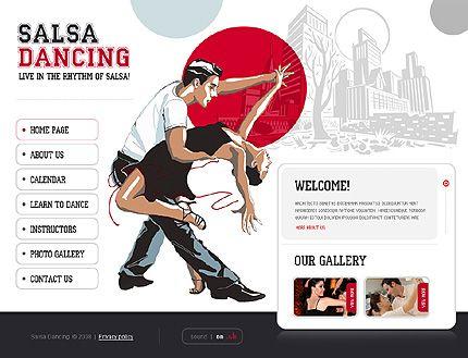 Salsa Dancing Flash Templates by Delta | Dance Studio | Pinterest ...