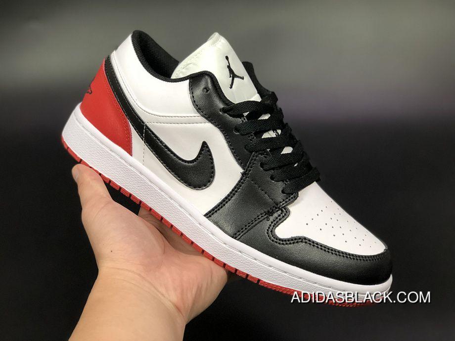 c08da782711d Air Jordan 1 Low AJ1 Aj1 Unisex Skateboard Shoes White Black Red New Release