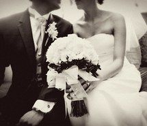 Inspiring picture beautiful, black and white, cute, dress, happiness, marriage, in love, love, wedding, wedding dress. Resolution: 1024x683. Find the picture to your taste!