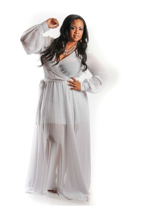 All white dress for plus size - White dress