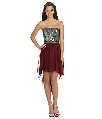 As U Wish Sequin HiLow Dress #Dillards  :) think this is the one!