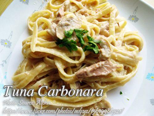 Tuna Carbonara Supreme Panlasang Pinoy Meat Recipes Carbonara Recipe Tuna Carbonara Recipe Carbonara