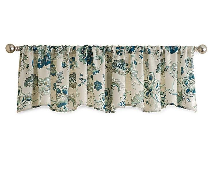 Living Colors Blue Floral Window Valance 16 X 58 Big Lots