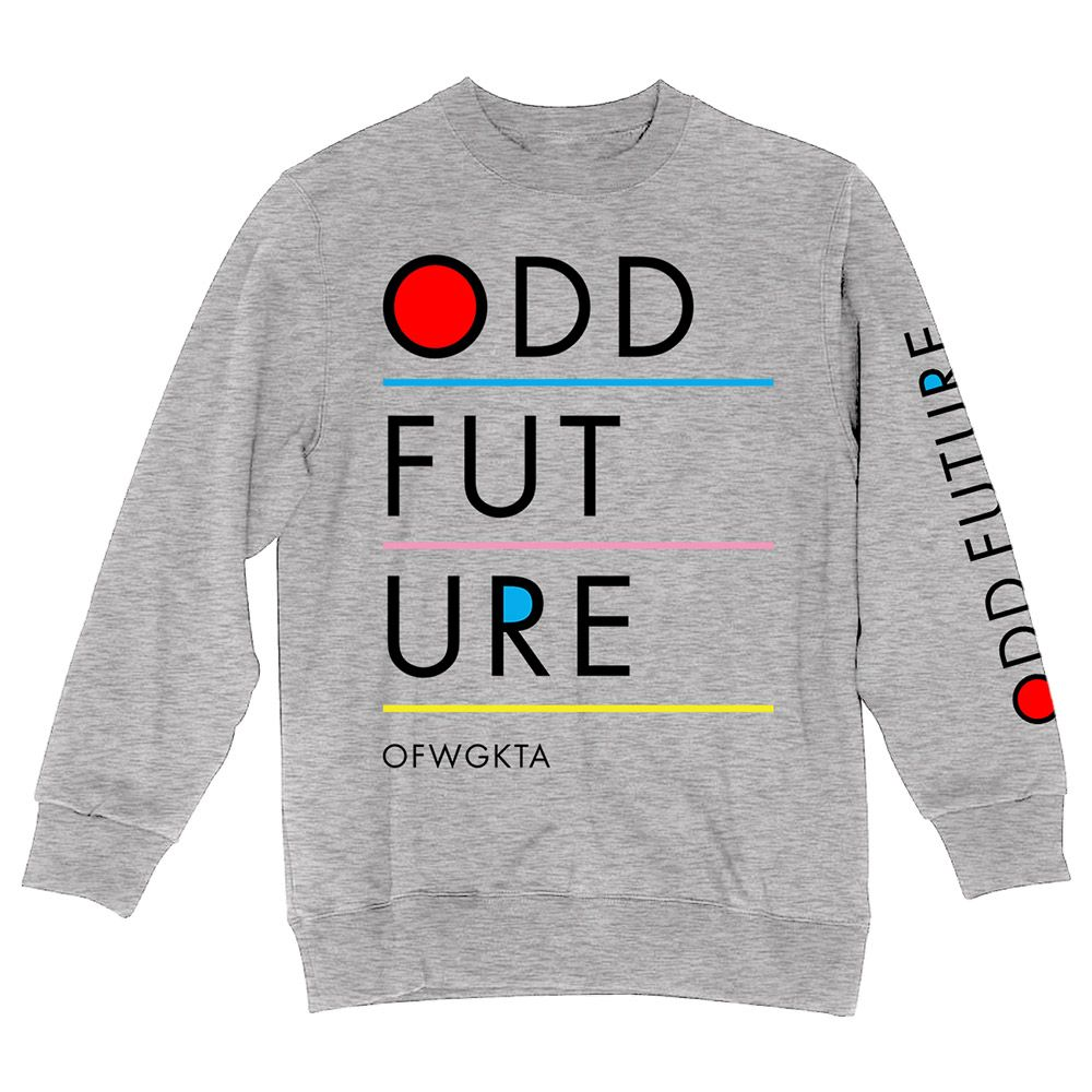 b2634f46eac0b4 ODD FUTURE LINE CREW FLEECE SWEATSHIRT