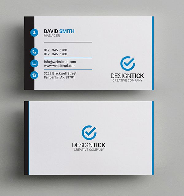 simple clean business card name card pinterest business cards
