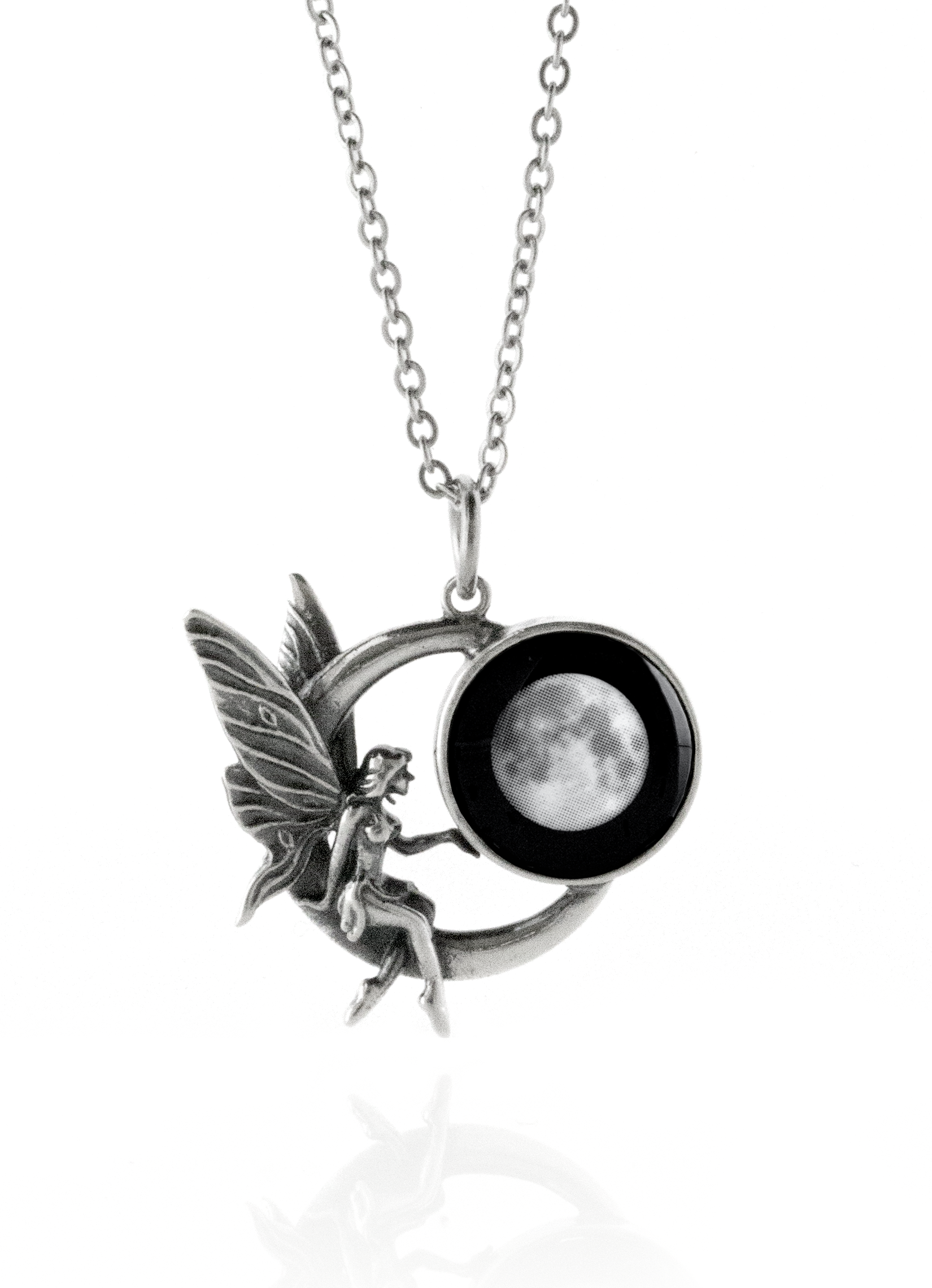 Moonglow S Fairy On The Moon Pendant