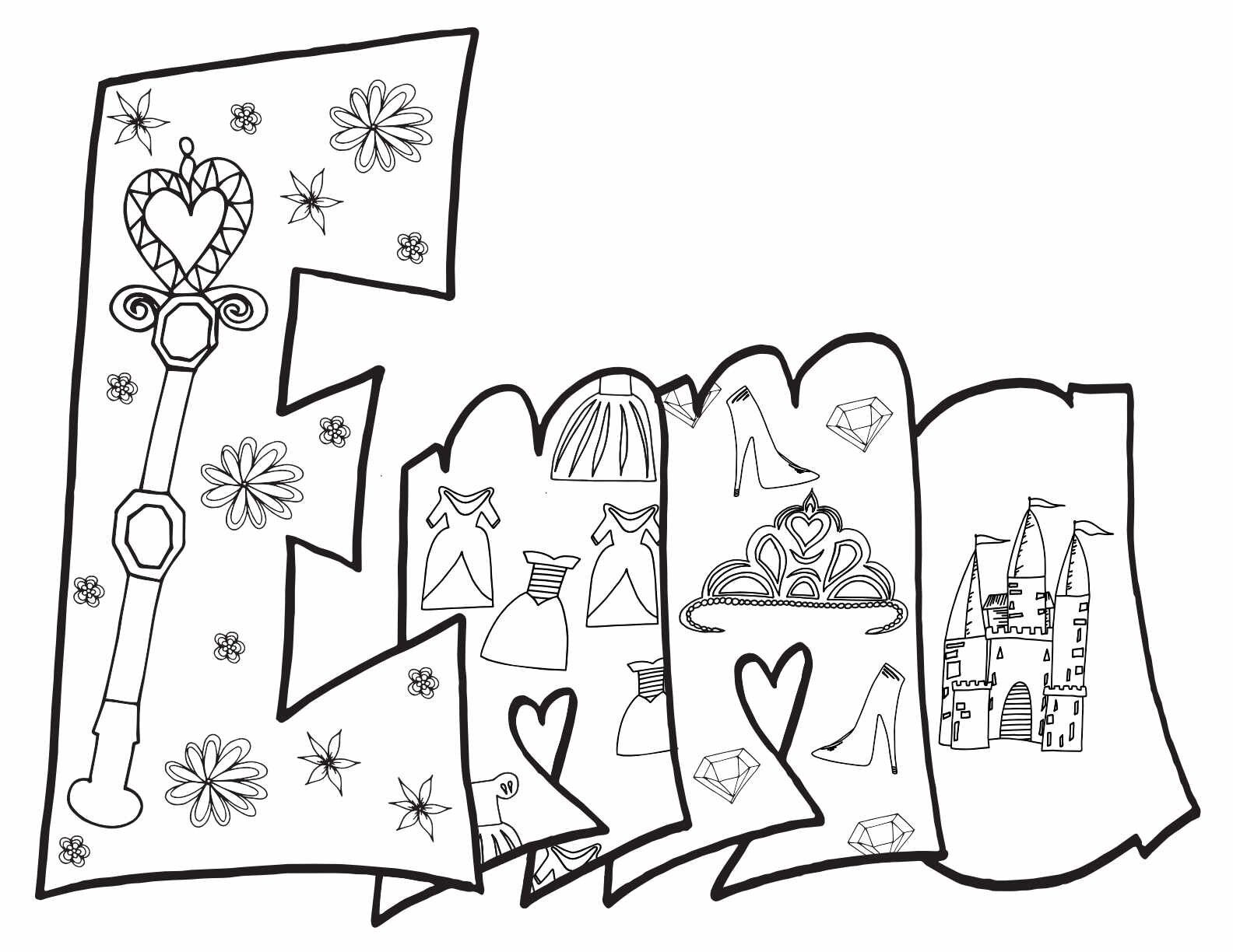 Emma Free Printable Princess Coloring Page Stevie Doodles Princess Coloring Pages Mermaid Coloring Pages Cinderella Coloring Pages
