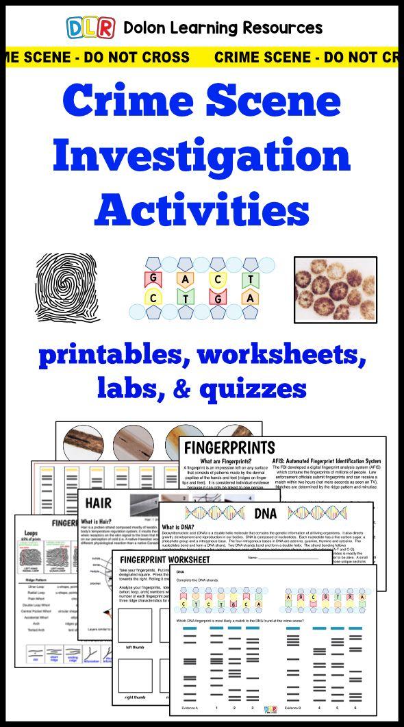 Forensic Science Crime Scene Investigation Activities Fingerprints
