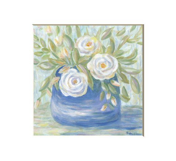 Impressionist Flower Art Print By Hamiltonartanddesign On Etsy