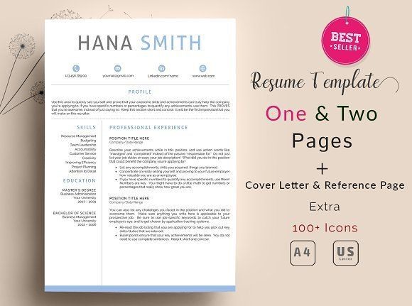 Profesional Resume Template For Word Instant Download Cv Template