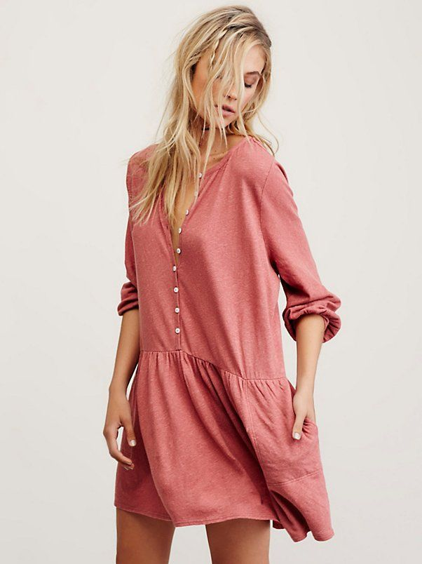 6f5b94733 Button Up Mini Dress | Want | Dresses, Button up dress, Free people ...