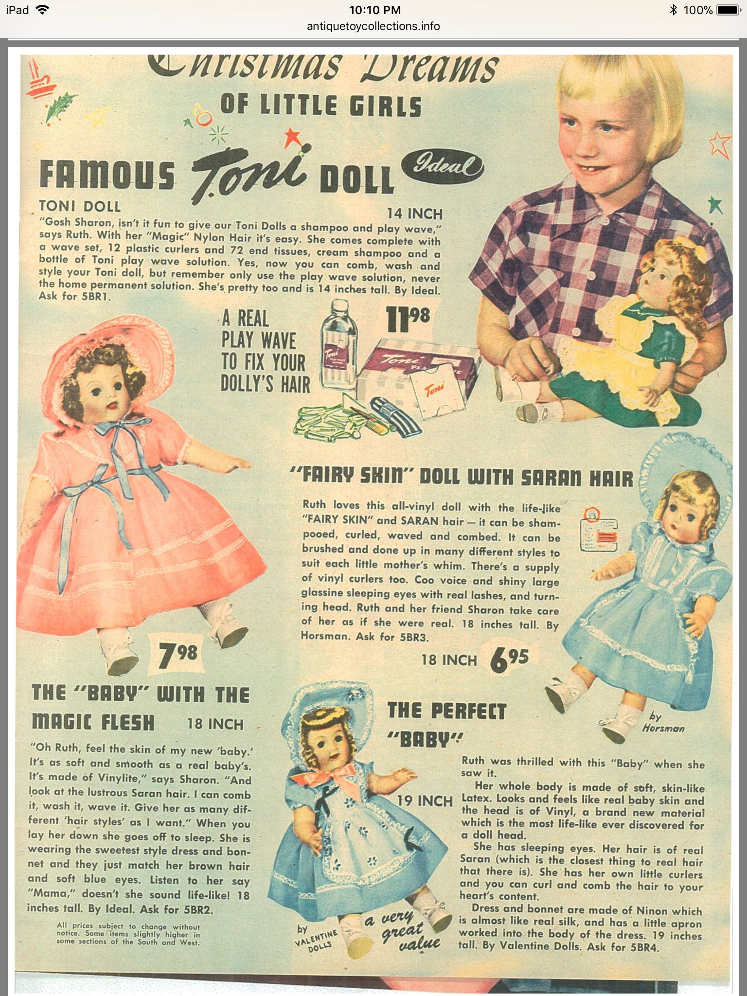 Vintage doll ads image by acwilson | Vintage ads, Baby ...