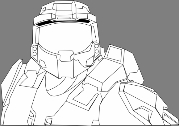 Halo Reach Coloring Pages 1 Vectories Com Coloring Pages Halo Master Chief Helmet Halo Master Chief