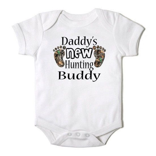 Daddy's New Hunting Buddy Funny Baby Girl or Boy Onesie Bodysuit on Etsy, $14.00