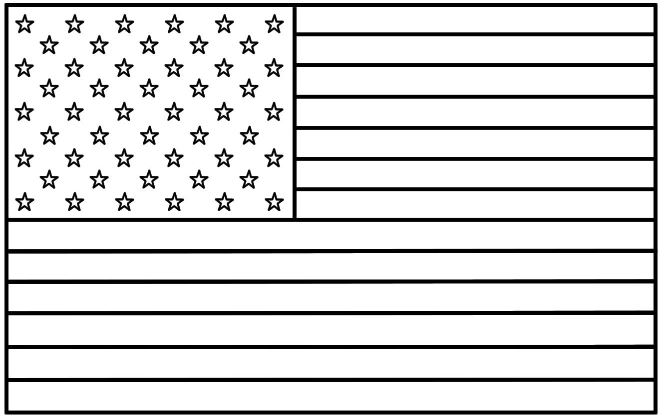 Top Flags To Print And Colour American Flag Coloring S
