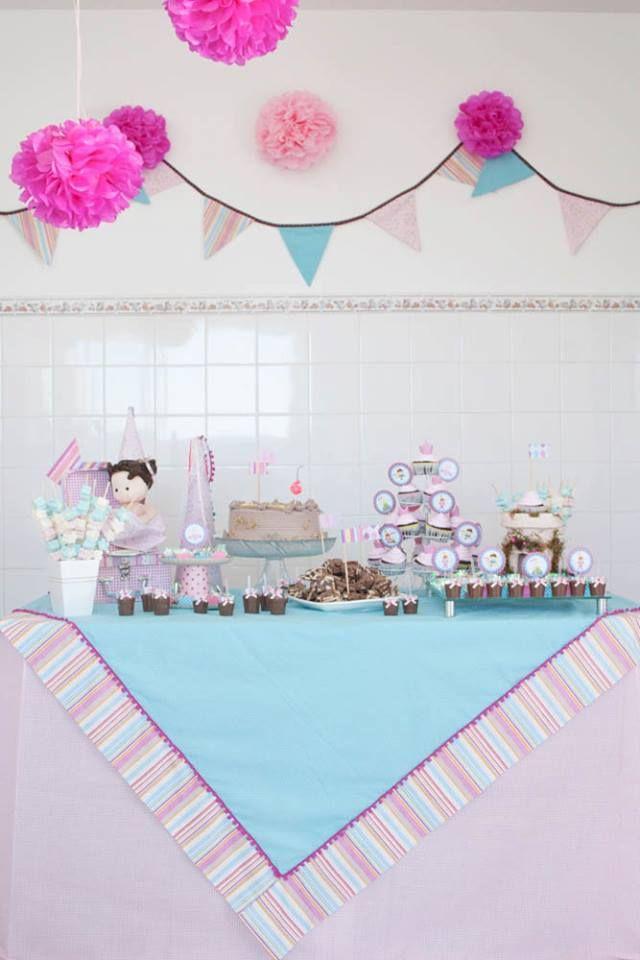 Mesa decorada com nosso kit no tema A princesa e o sapo.lindeza ...