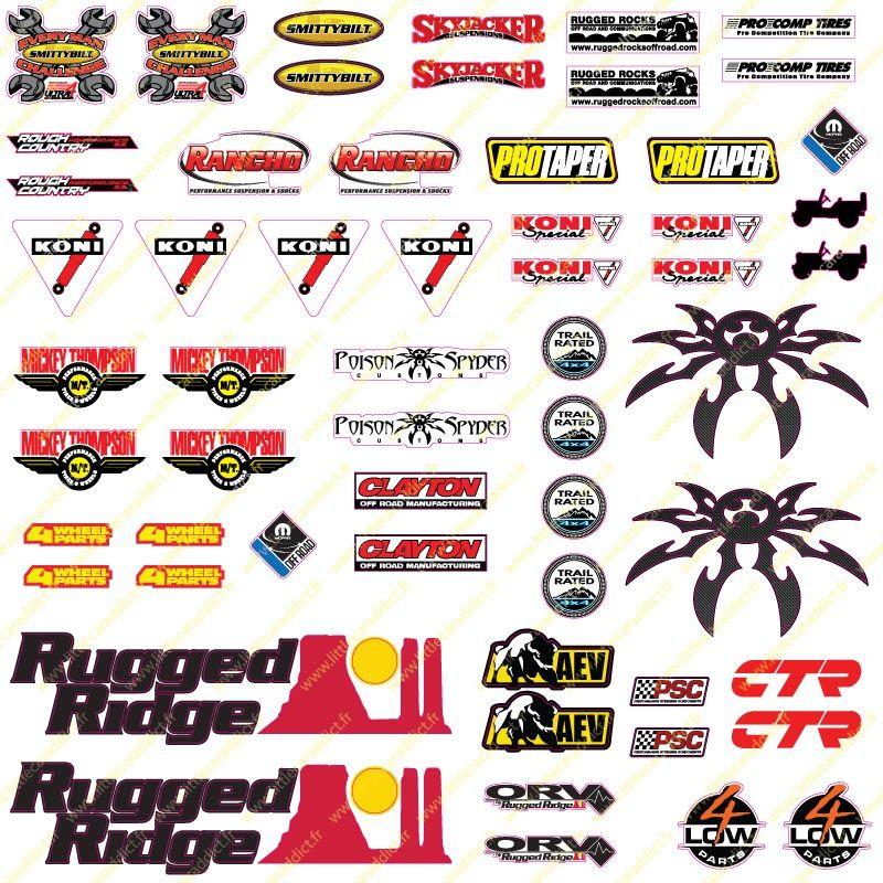 Ford Ranger Grey 1//10 RC stickers autocollant feuille Precut personnalisé