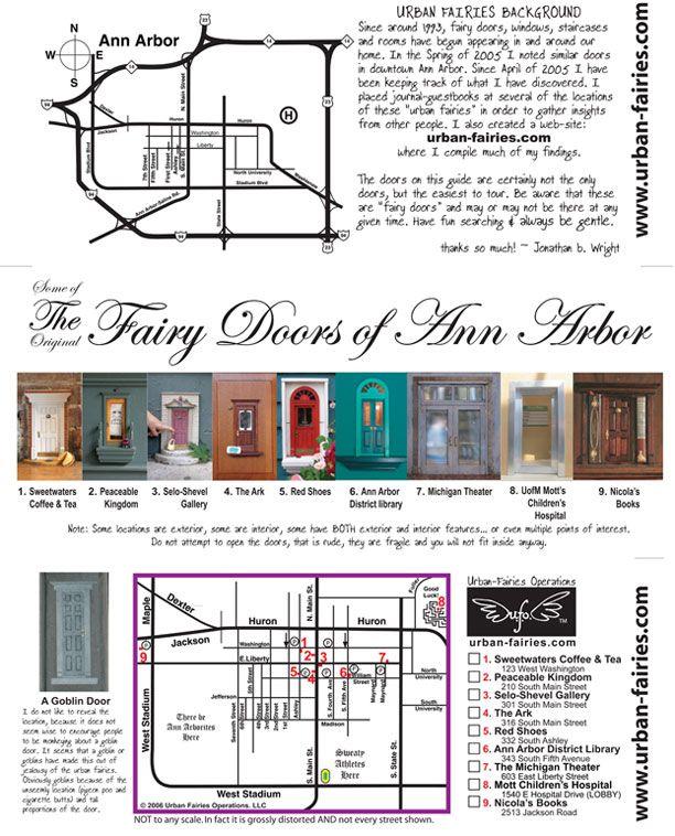 Urban Fairies fairy doors in Ann Arbor Locations and TOUR ... on