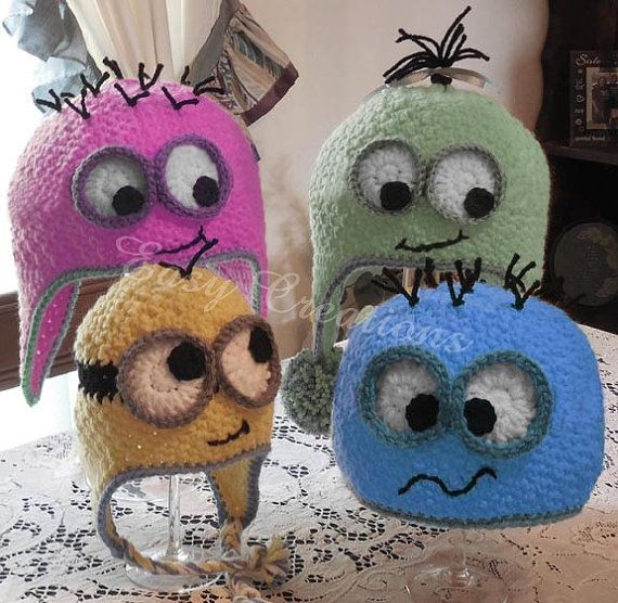 Friendly Googly Eye Hat PDF Crochet Pattern by Easy Creations