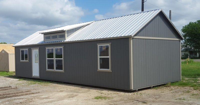 16x40 dormer cabin storage shed portable building in