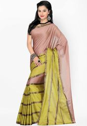 Ishin Peach Printed Saree Online Shopping Store
