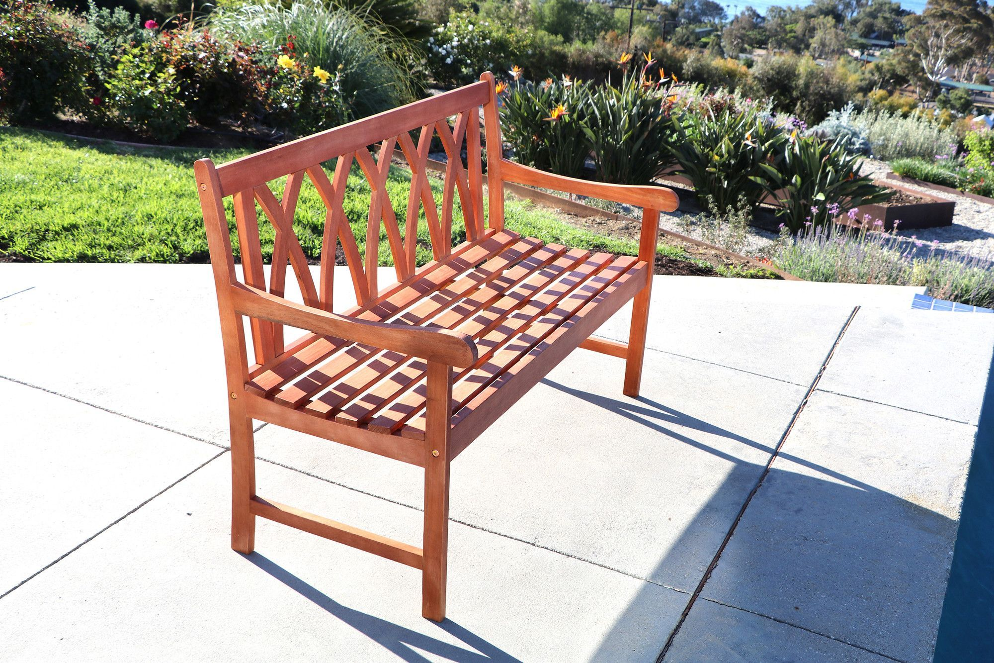 Malibu wood garden bench products pinterest bench and products