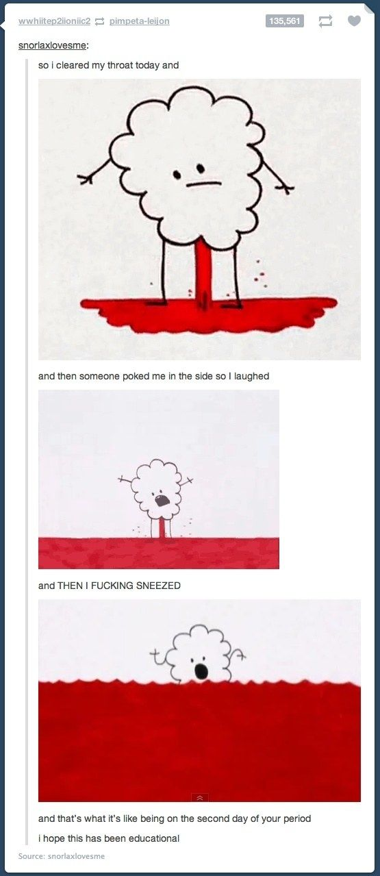 03ad5c24f84a02b3d31e6b64c5f43696 19 times tumblr was fucking funny about periods times, humor and