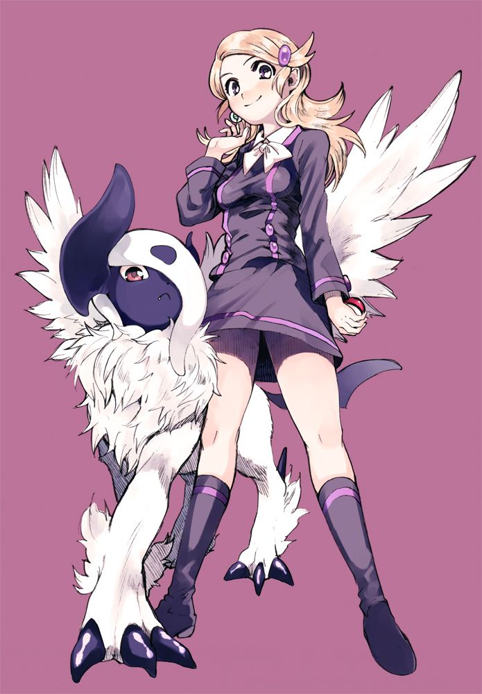 Anime Picture Search Engine Absol Ace Trainer Pokemon Amezawa Koma Blonde Hair Hair Ornament Hairclip Mega Absol Mega Pok Pokemon Pokemon Characters Anime