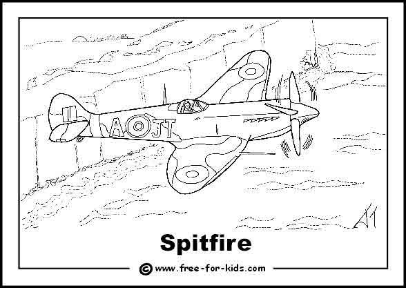 Spitfire over White Cliffs of Dover | Elijah | Coloring ...