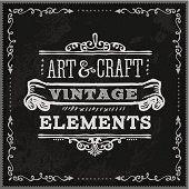 Hand Drawn Chalk Vintage Label
